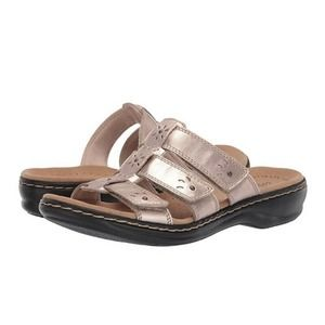 Clarks Leisa Spring Triple Strap Sandals 9.5 N